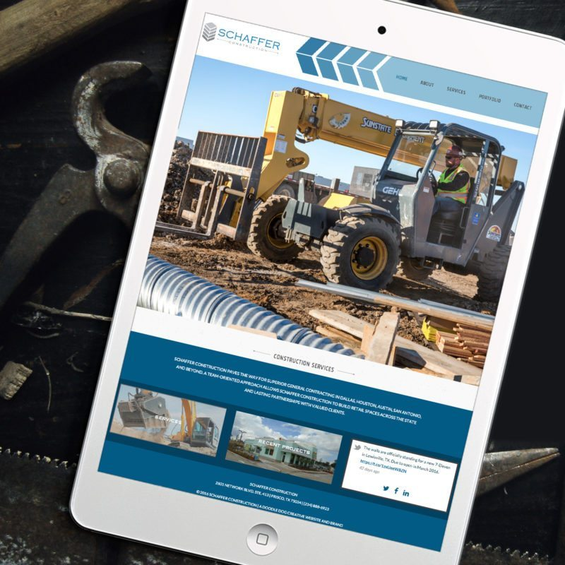 Customized Website Design for Schaffer Construction | Doodle Dog
