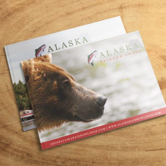 Brochure and Logo Design for Alaska Rainbow Lodge | Doodle Dog Creative