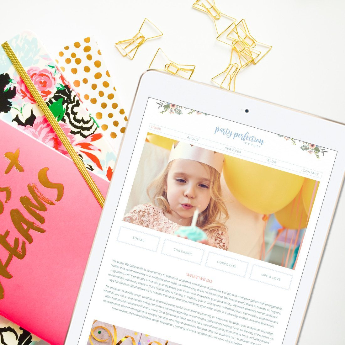 Pretty Website Design | Doodle Dog Creative