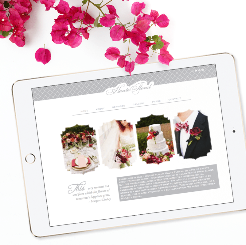 Custom Website Design and Brand Florist | Doodle Dog