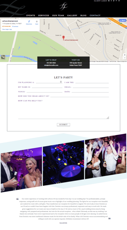 Unique Custom Website for Dallas DJ | Doodle Dog