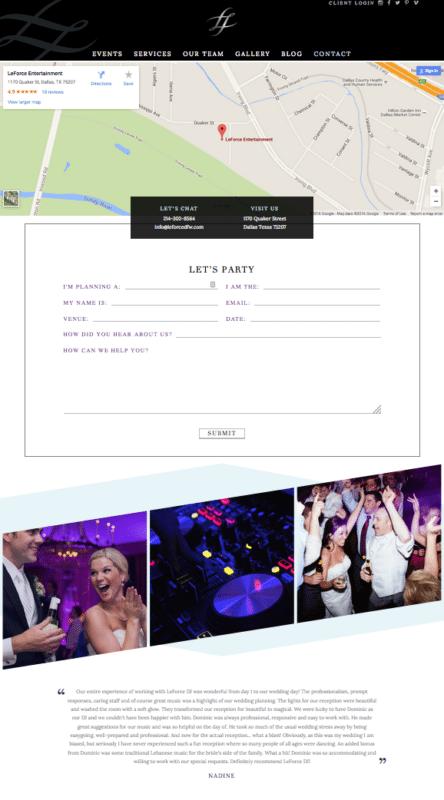 Unique Custom Website for Dallas DJ | Doodle Dog