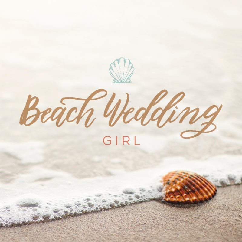 Beach Wedding Girl | Feminine Logo Design