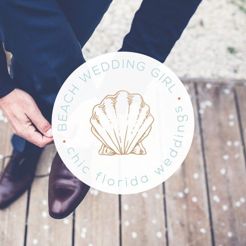 Beach Wedding Girl   Feminine Logo Design