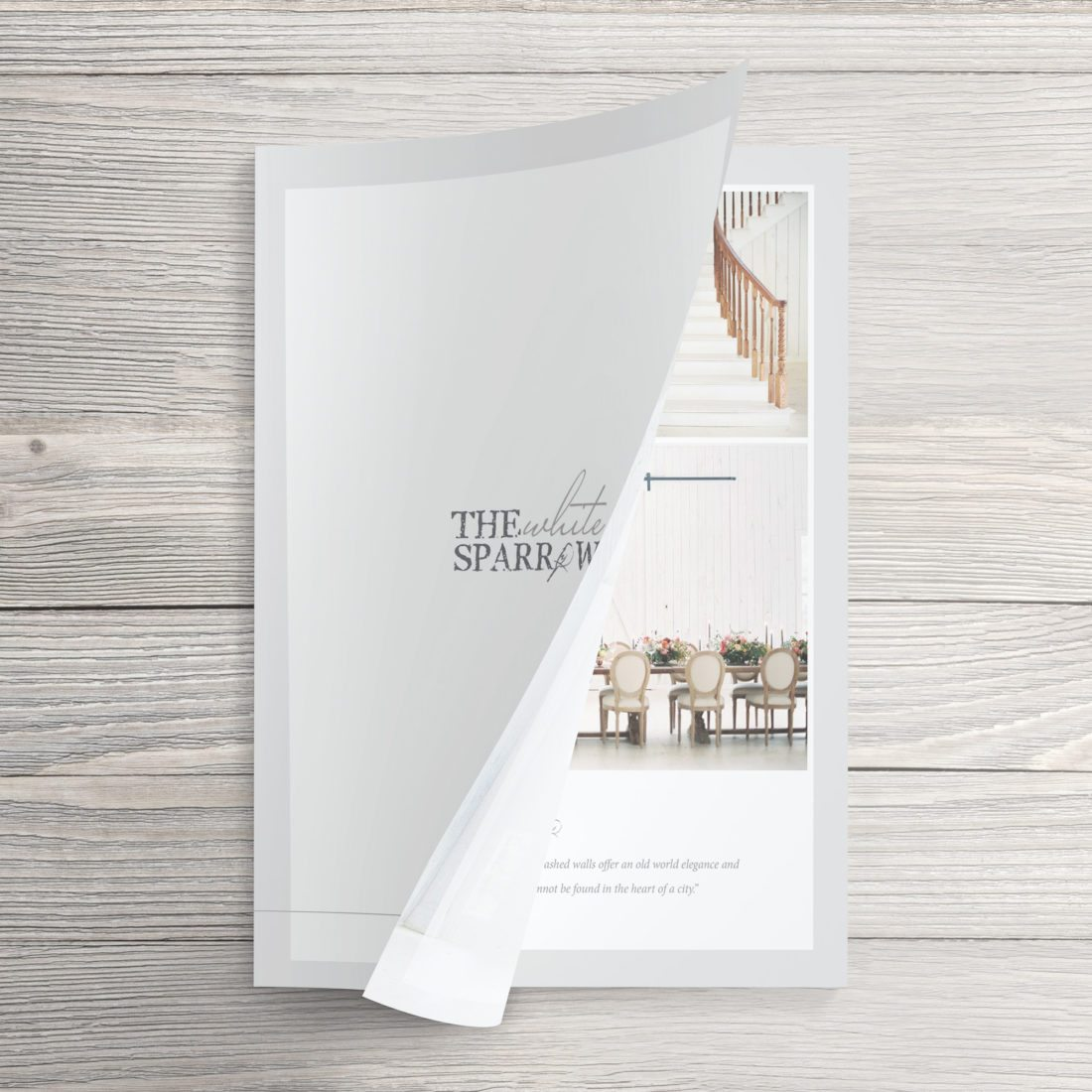 Dallas Branding Design | Media Kit for The White Sparrow Barn