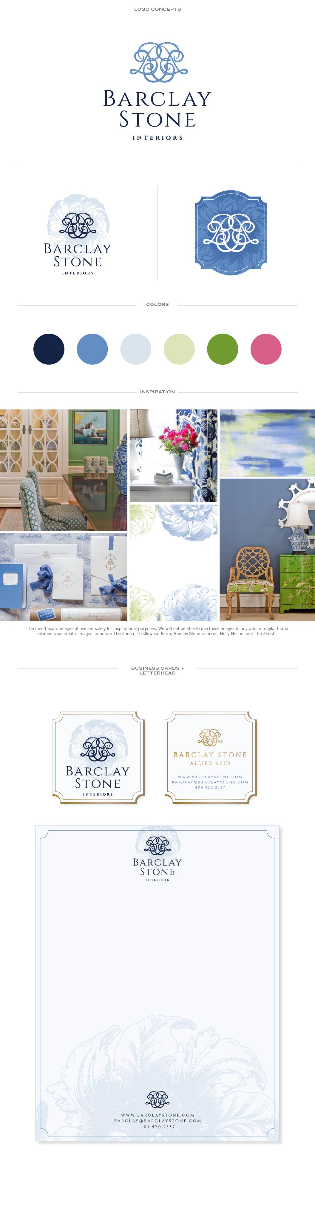 Interior Designer Branding: Barclay Stone Interiors | Doodle Dog