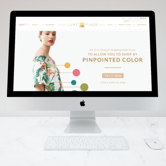 Custom Website Design: Luxury Product Curator, LuxeFinds | Doodle Dog
