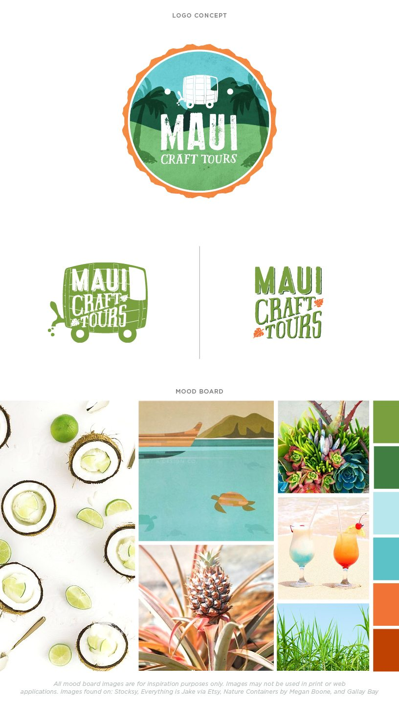 Small Business Branding for Maui Craft Tours | Doodle Dog