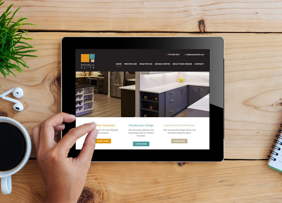 Website Design and Interactive Cabinet Builder for Republic Elite | Doodle Dog