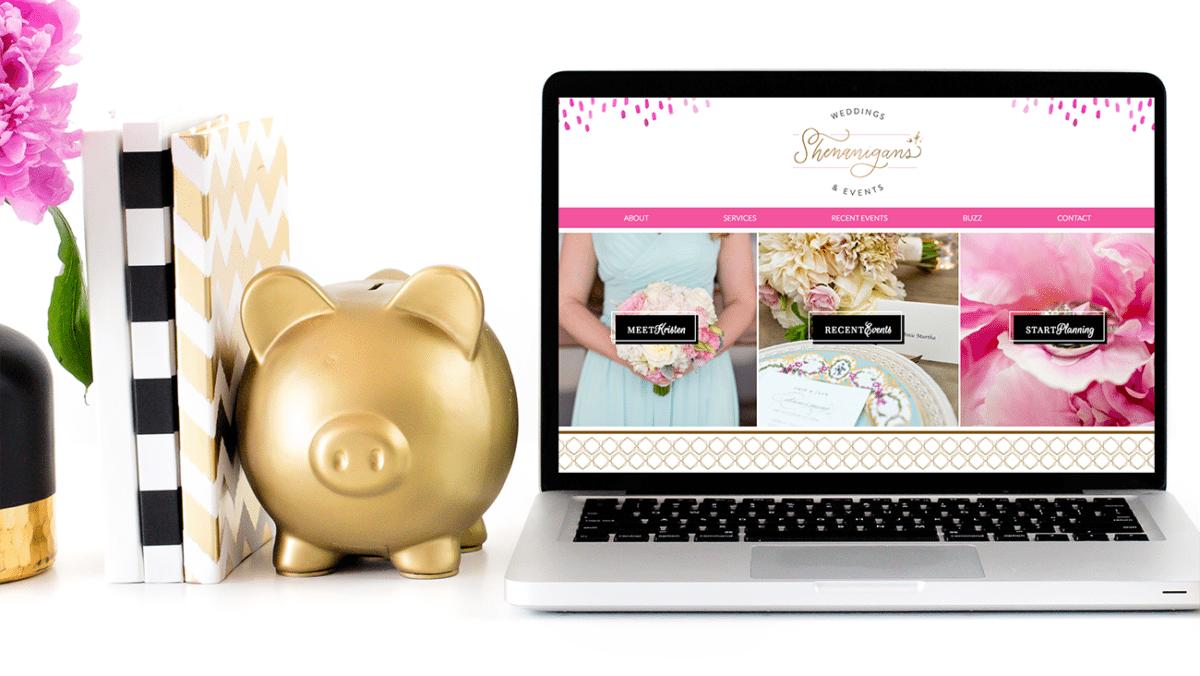 Brand Design and Web Design for Shenanigans Weddings + Events | Doodle Dog