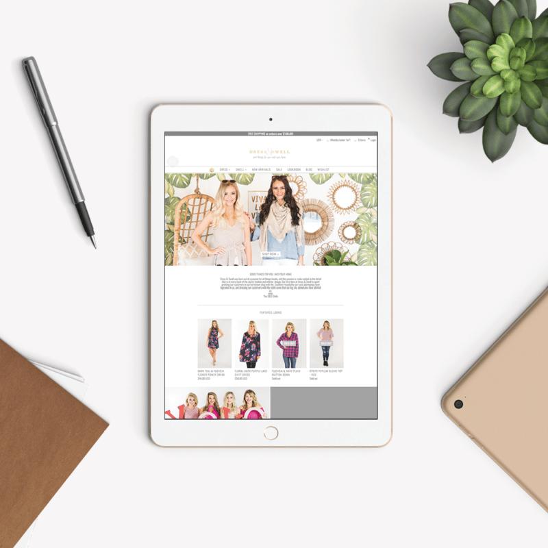 Dallas Boutique Brand and website Design