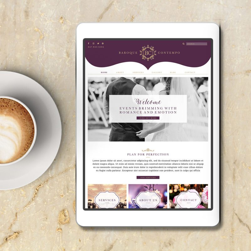 Web Design for Event Planner