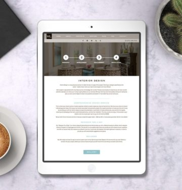 interior design web design