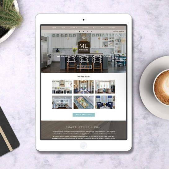 web site launch interior design