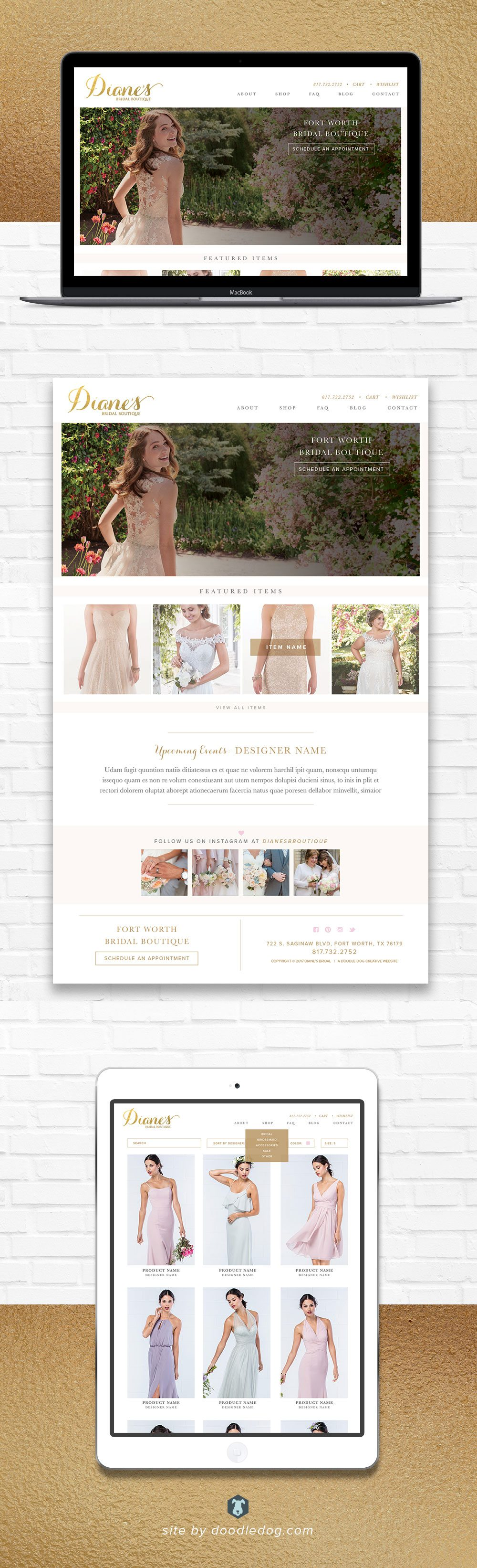 eCommerce Bridal Boutique Website Design