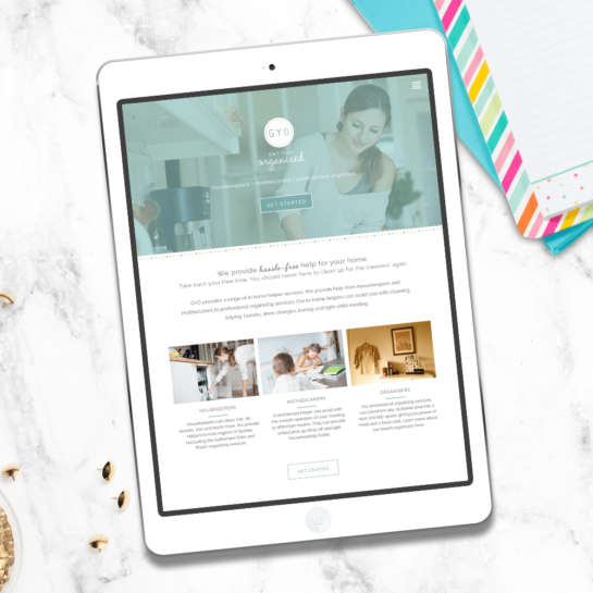 organising web design