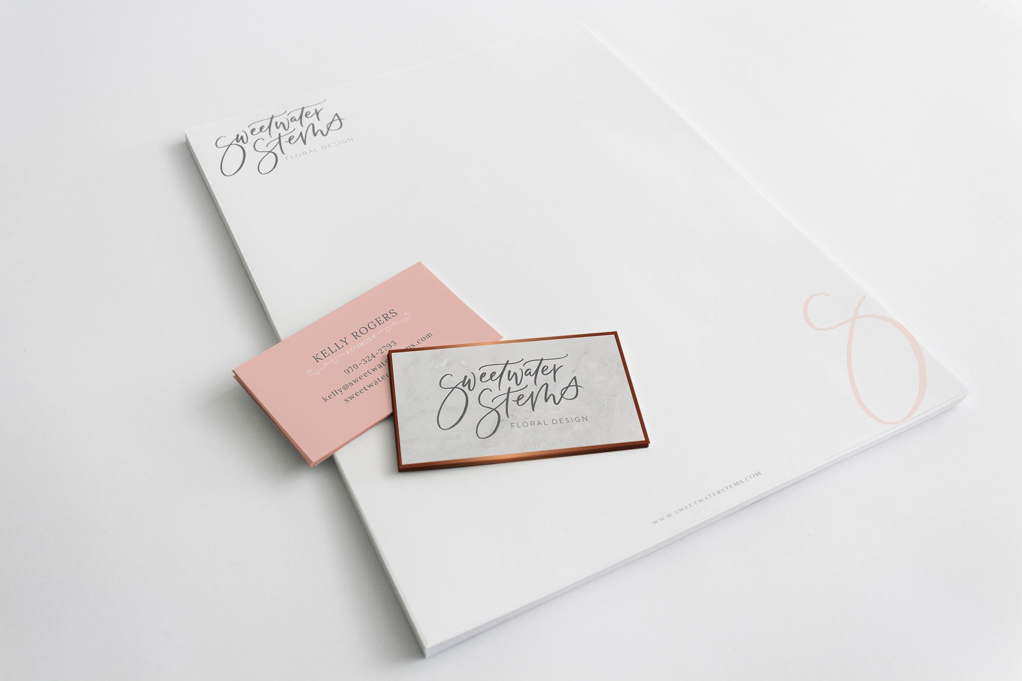 business card for floral