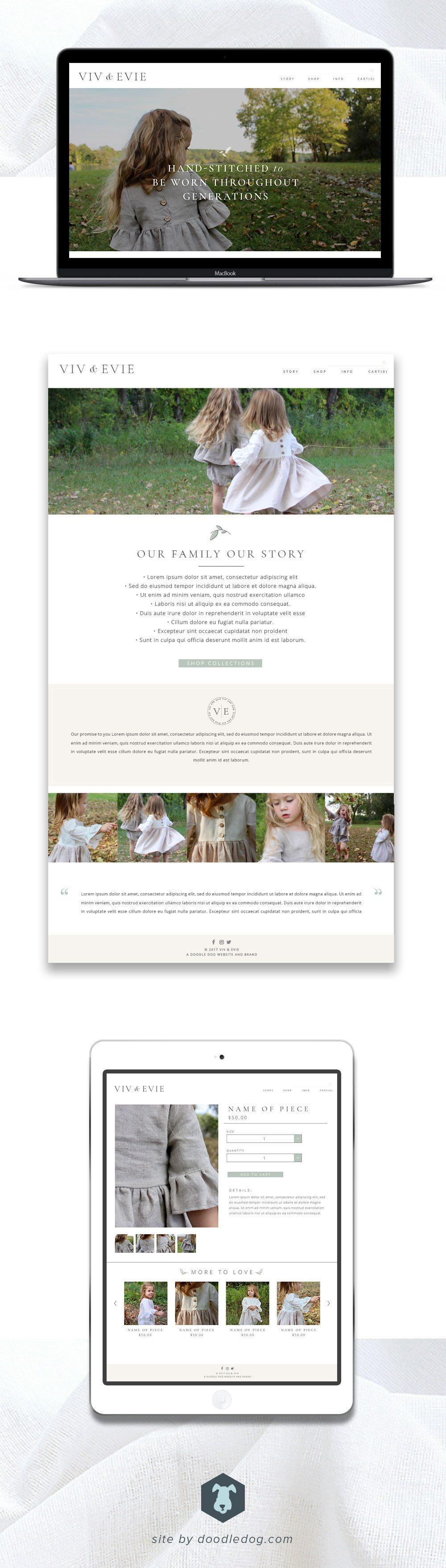 webdesign for clothing brand