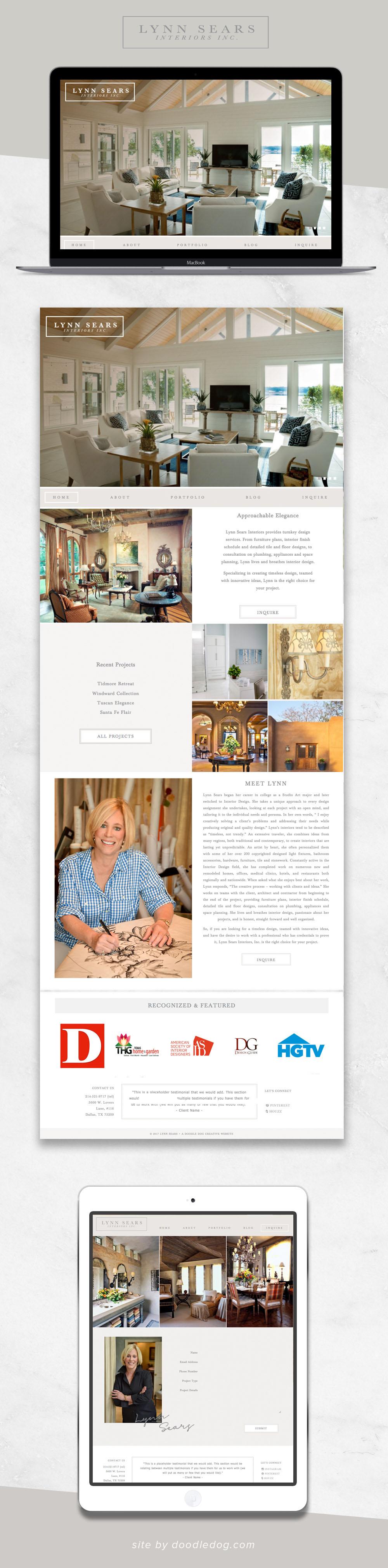Dallas Interior Designer Website Design
