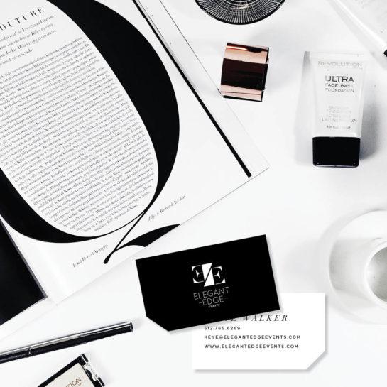 modern business card design for planner