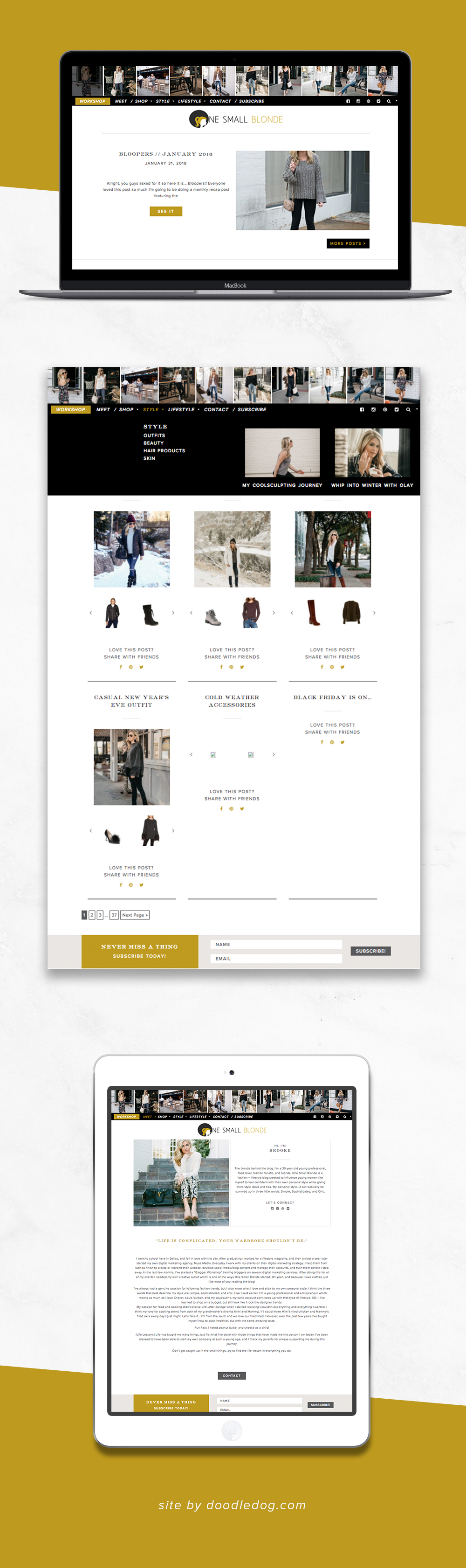 Fashion Blogger Website Design