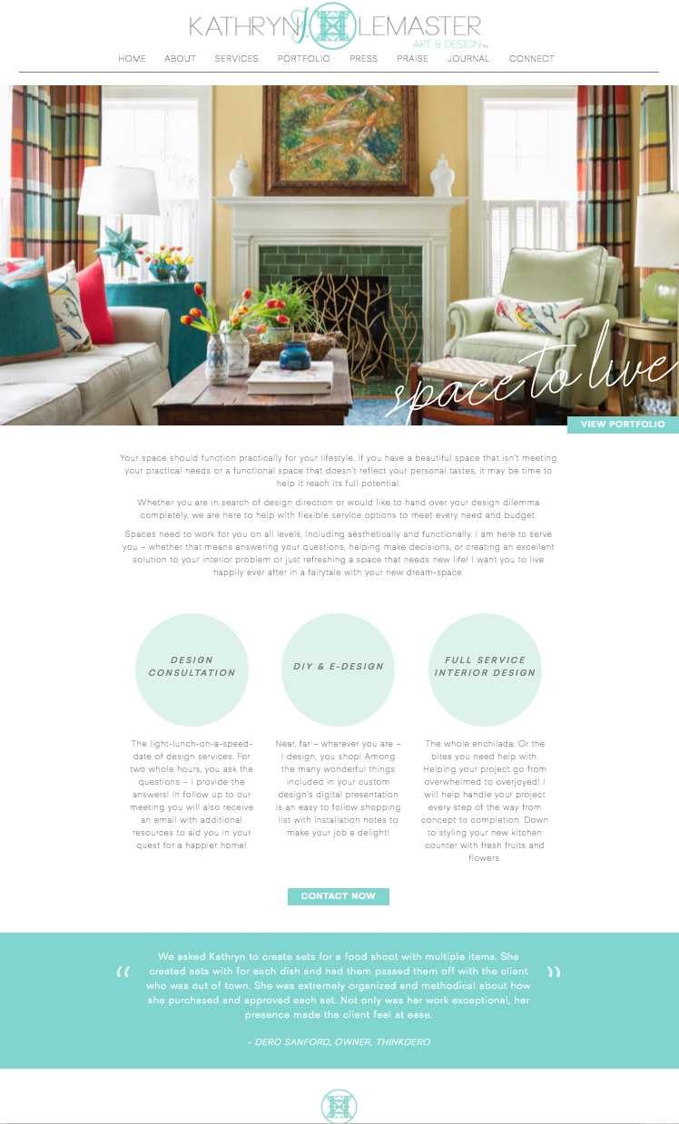interior designer website launch