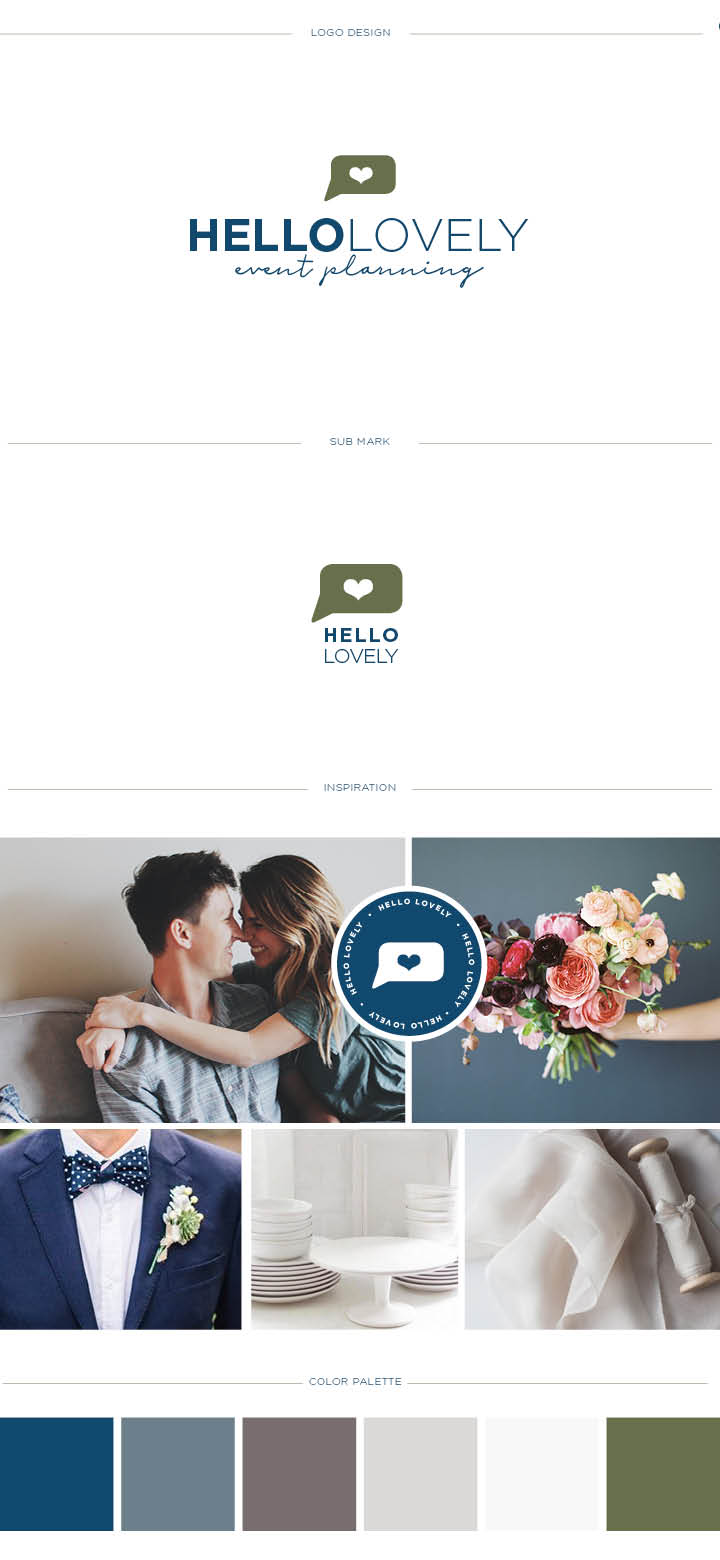 We Love The Preppy Website Design With Bold Navy Stripes And Dusty Blue Polka Dots Throughout Event Planner