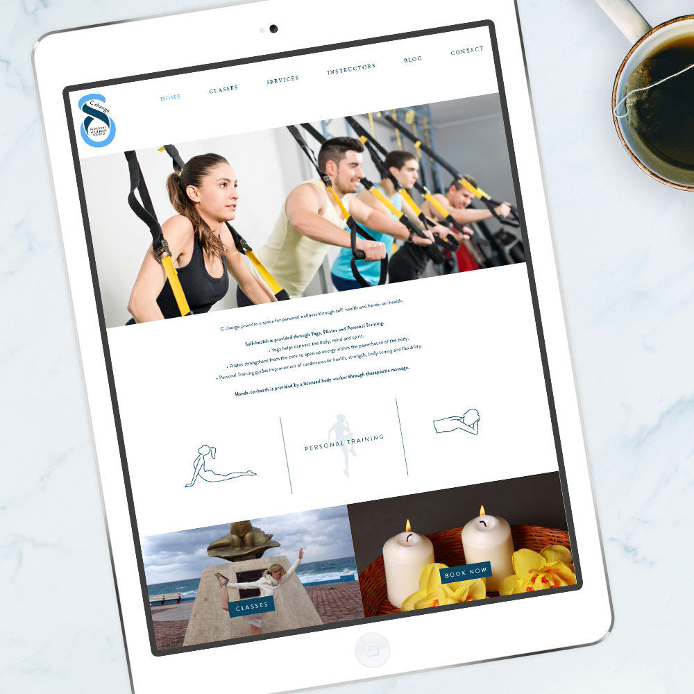 Fitness Studio Website Design