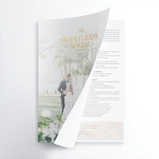 media kit design, sales kit design, wedding planner