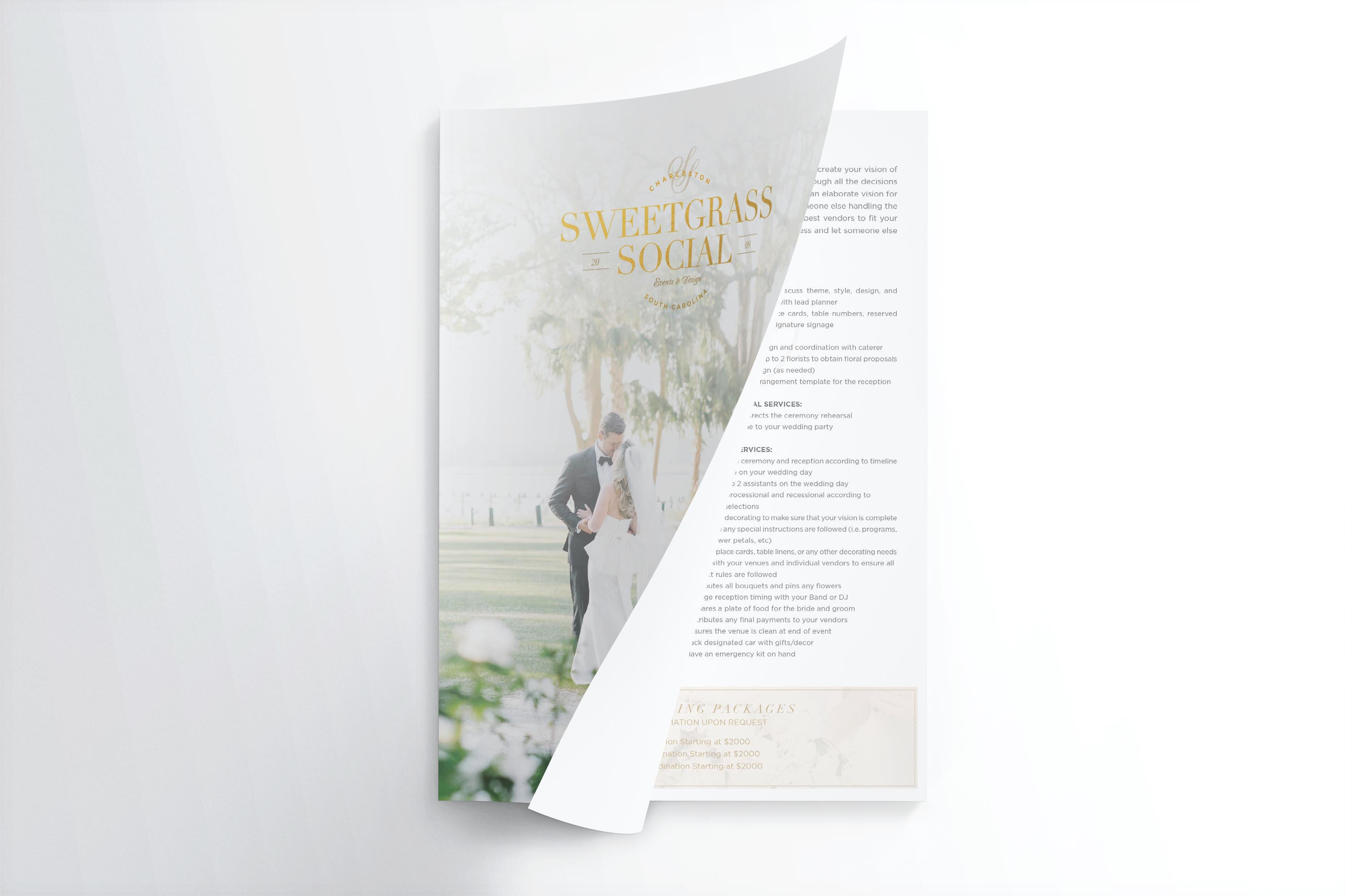 media kit design, sales kit design, wedding planner
