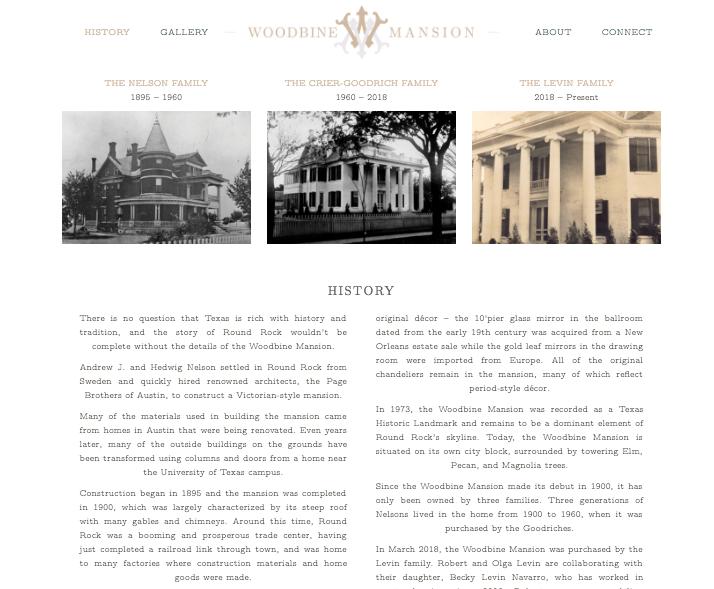 wedding venue custom website