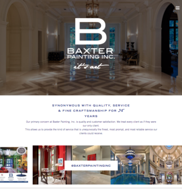 dallas website designer, luxury painter dallas, interior design website