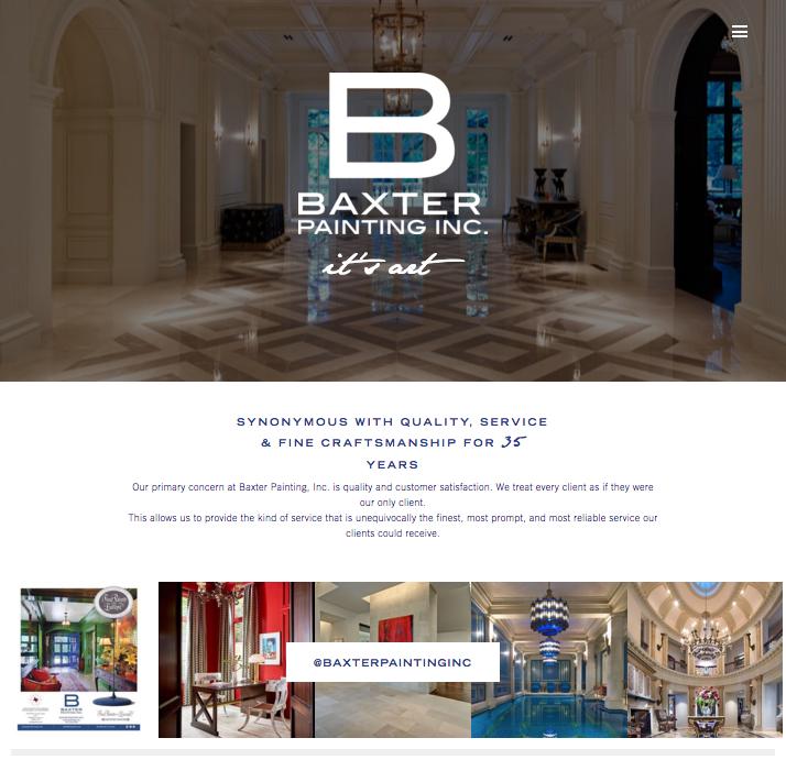 dallas website designer, luxury painter dallas, interior design website