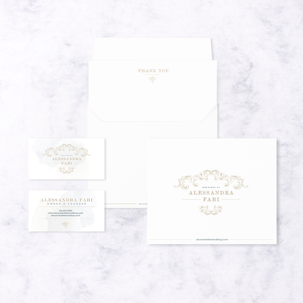 Italian Wedding Planner Stationery Design