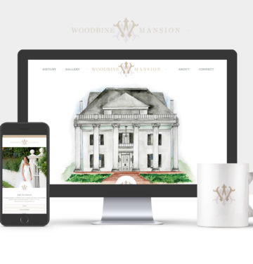 wedding venue website design, woodbine mansion, wordpress web designer
