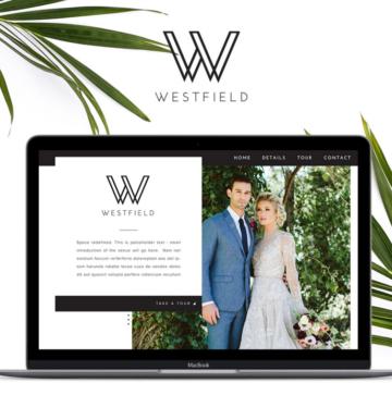 modern wedding venue website design