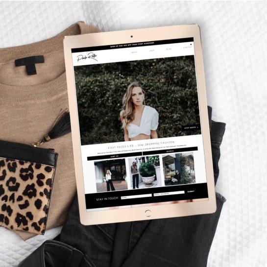 wordpress website fashion brand