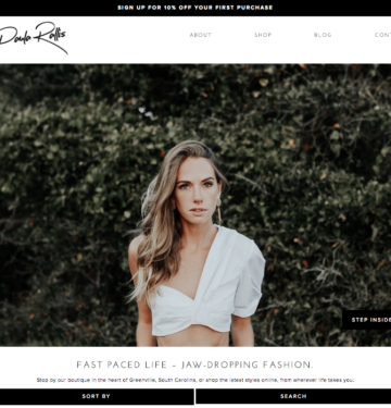 fashion designer website