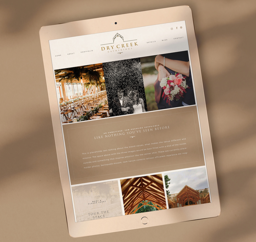 Wedding Venue Brand Design Website Design