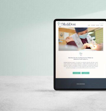 medical dental website design