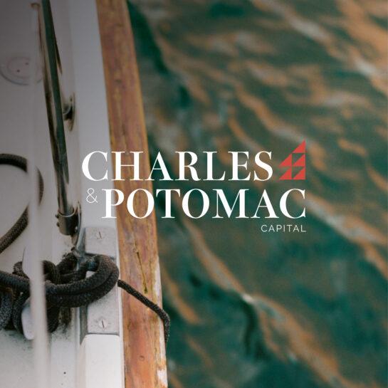 charles & potomac capital brand design, financial brand design